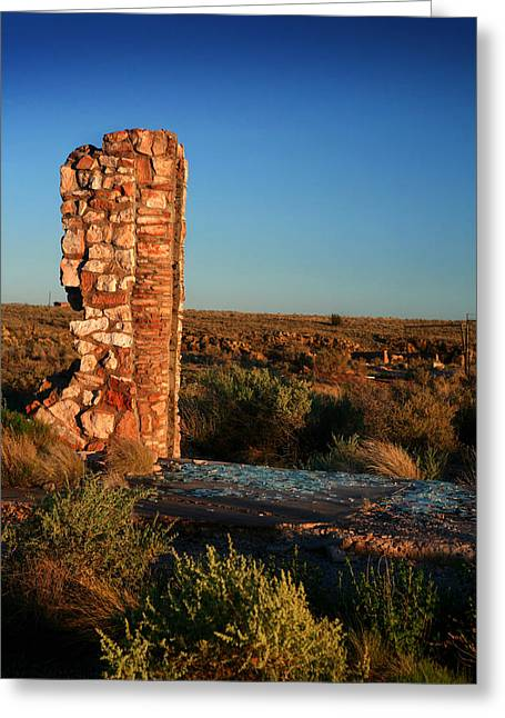 Greeting Card featuring the photograph Broken Glass At Two Guns by Lon Casler Bixby