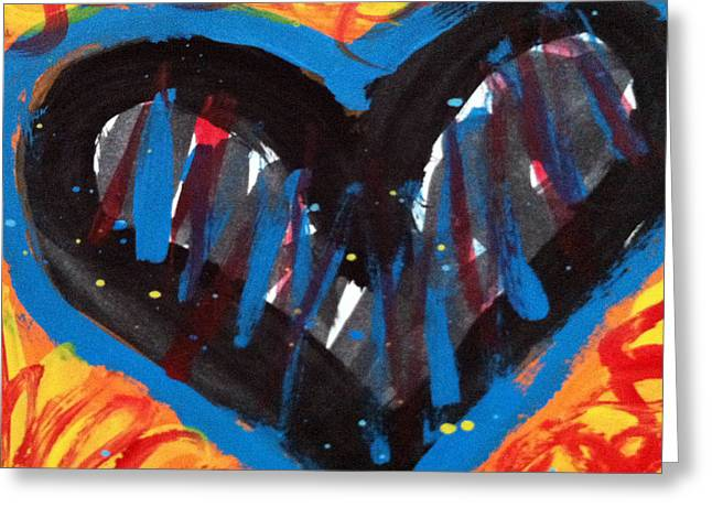 Broken Heart And Power Of Love Collide Greeting Card by Bethany Stanko