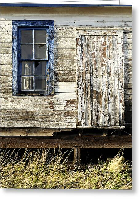 Greeting Card featuring the photograph Broken Window by Fran Riley