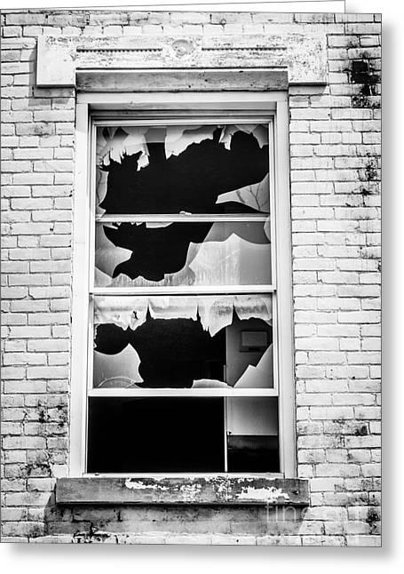 Broken Window Glencoe-auburn Cincinnati Ohio Greeting Card by Paul Velgos