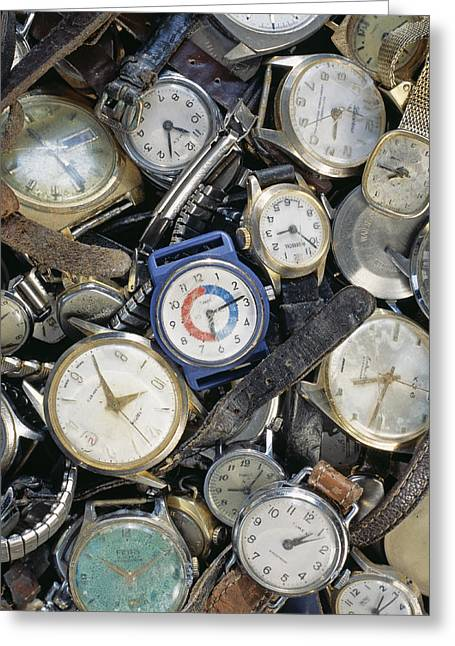 Broken Wrist-watches Greeting Card by Kevin Curtis
