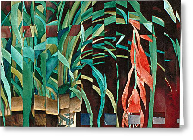 Bromeliad Greeting Card by Eunice Olson