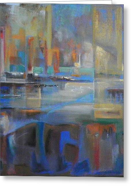 Bronte Harbour Greeting Card by Frances Obie