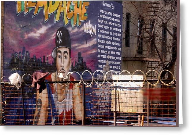 Bronx Graffiti. Headache - 1 Greeting Card by RicardMN Photography