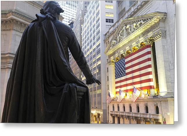 Bronze Statue Of George Washington Greeting Card