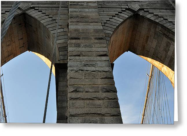 Brooklyn Bridge Greeting Card by Diane Lent