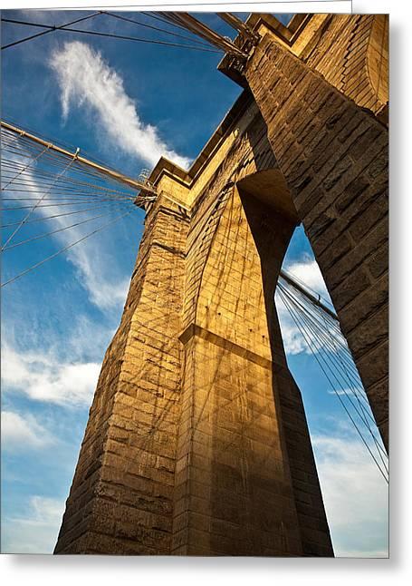 Brooklyn Bridge End Of The Day Greeting Card by Patrick  Flynn