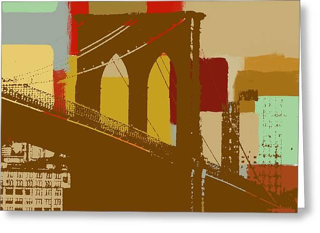 Brooklyn Bridge  Greeting Card by Art Yashna