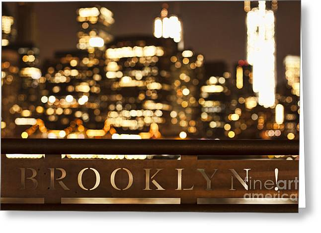 Brooklyn Bubbly Greeting Card by Andrew Paranavitana