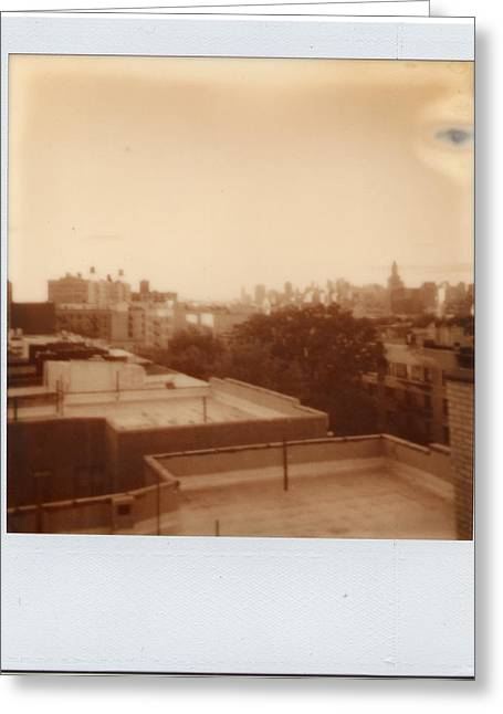 Brooklyn With Ip Px100 Film Greeting Card by Julie VanDore