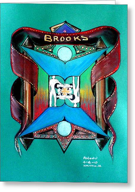 Brooks Family Crest Greeting Card