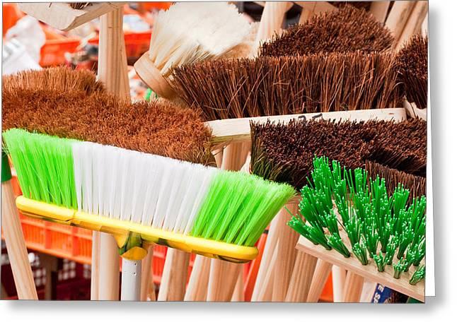Brooms Greeting Card