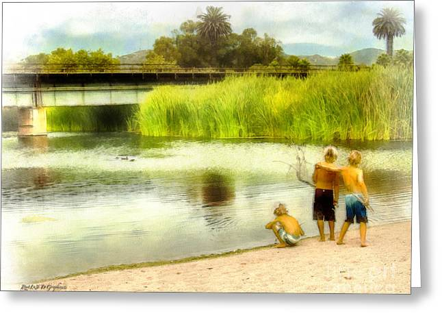 Brothers And Best Friends Greeting Card by Rhonda Strickland