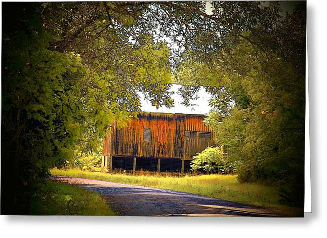 Brown Barn Greeting Card