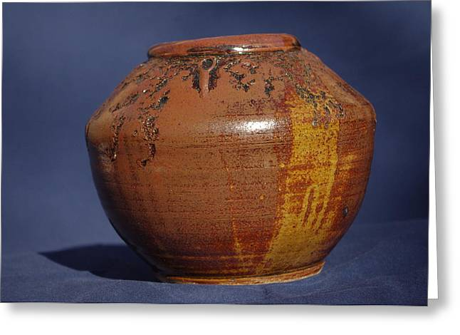 Brown Vase Greeting Card by Rick Ahlvers