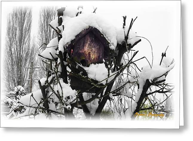 Greeting Card featuring the photograph Brrr-rr-die by Sadie Reneau
