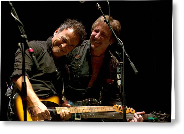 Bruce Springsteen And Danny Gochnour Greeting Card