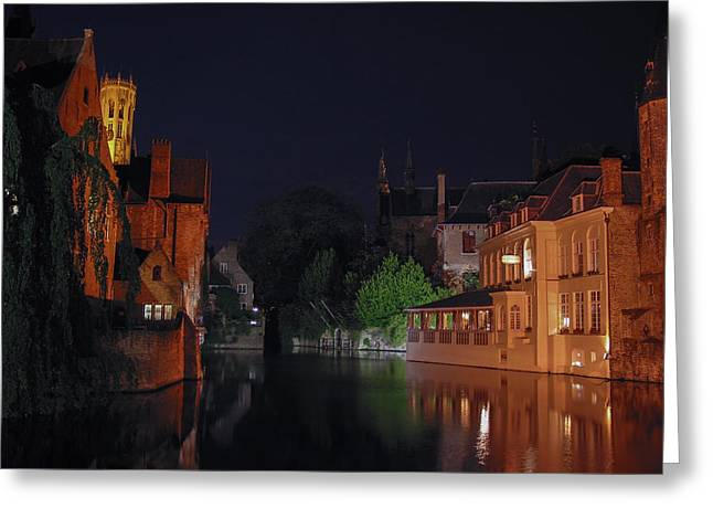 Greeting Card featuring the photograph Bruges by David Gleeson