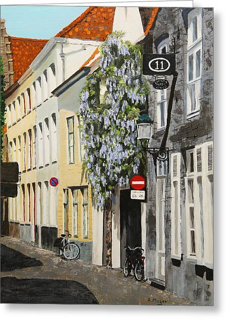 Bruges Wisteria Greeting Card