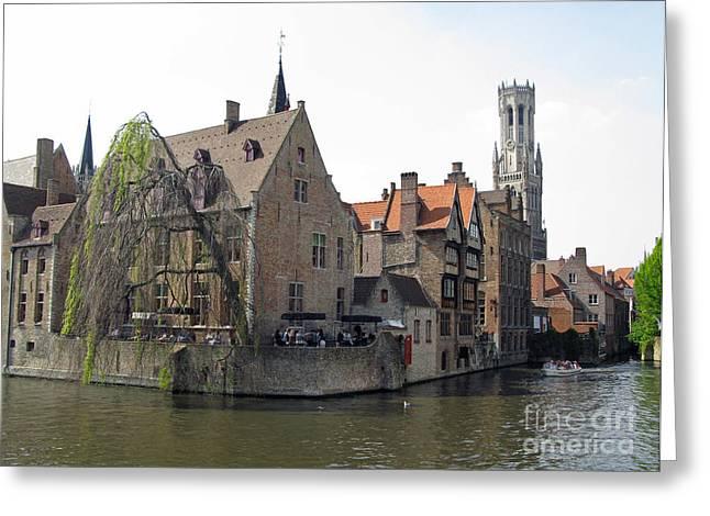 Brugge. Belgium. Spring 2011 Greeting Card by Ausra Huntington nee Paulauskaite