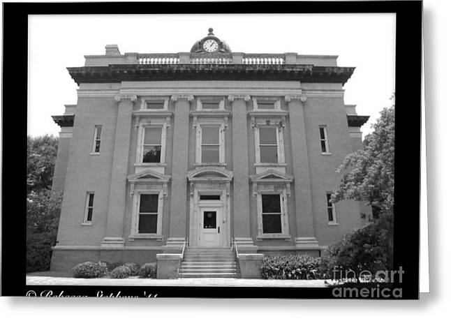 Brunswick Historical Court House Greeting Card by Rebecca Stephens