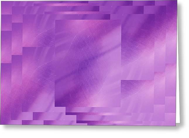 Brushed Purple Violet 7 Greeting Card by Tim Allen