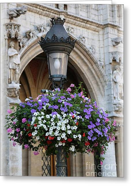 Brussels Lamp Post Greeting Card