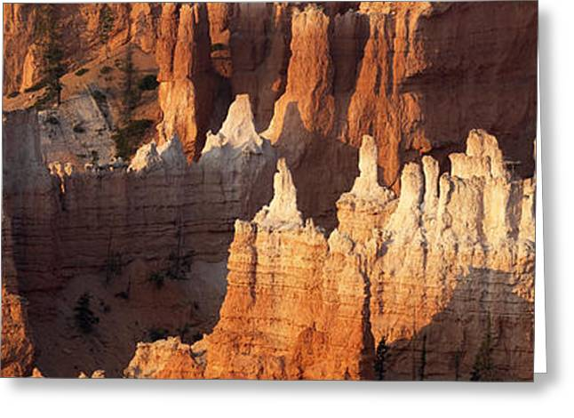 Greeting Card featuring the photograph Bryce Canyon Desert Sunrise Panorama by Mike Irwin