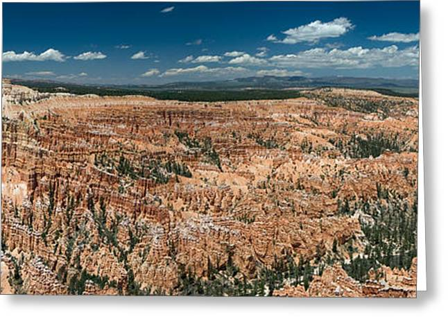Bryce Canyon Panaramic Greeting Card by Larry Carr