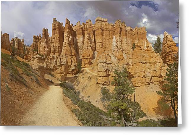 Greeting Card featuring the photograph Bryce Canyon Trail by Gregory Scott