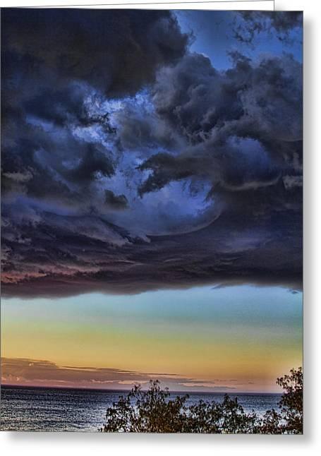 Bubble Cloud Greeting Card by Douglas Barnard