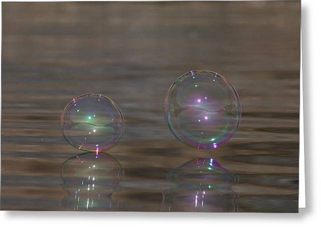 Bubble Iridescence Greeting Card by Cathie Douglas