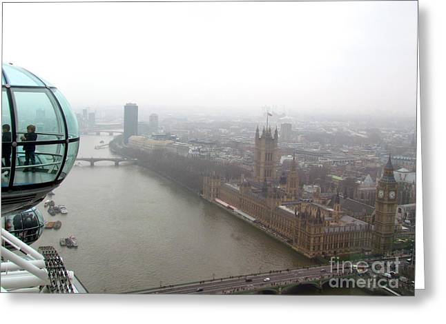 Greeting Card featuring the photograph Bubble Over London by Beth Saffer