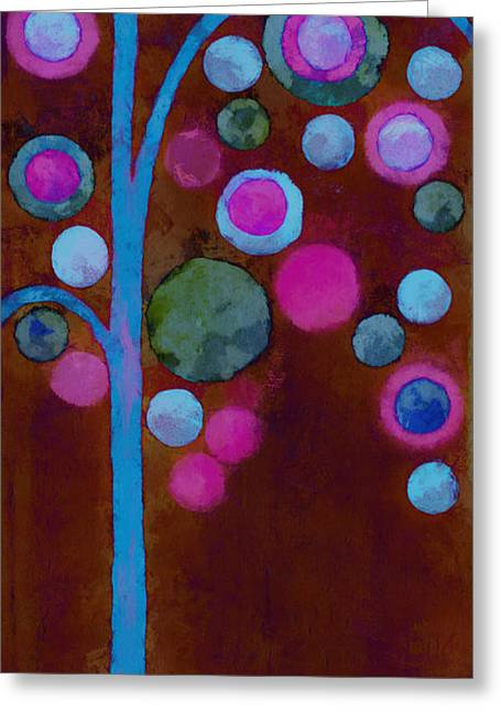 Bubble Tree - W02d Greeting Card by Variance Collections
