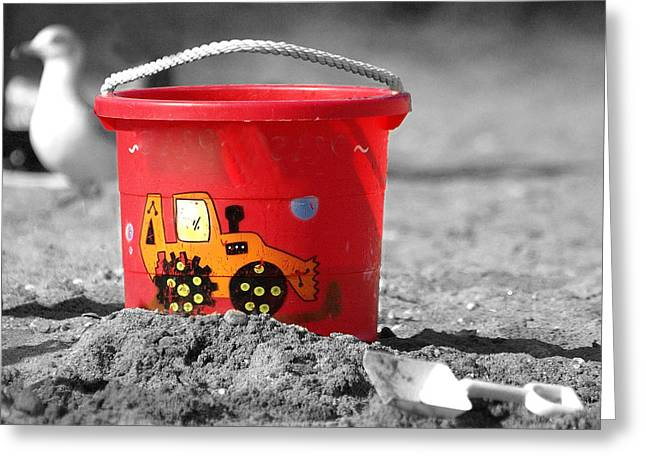 Greeting Card featuring the photograph Get A Bucket by Raymond Earley