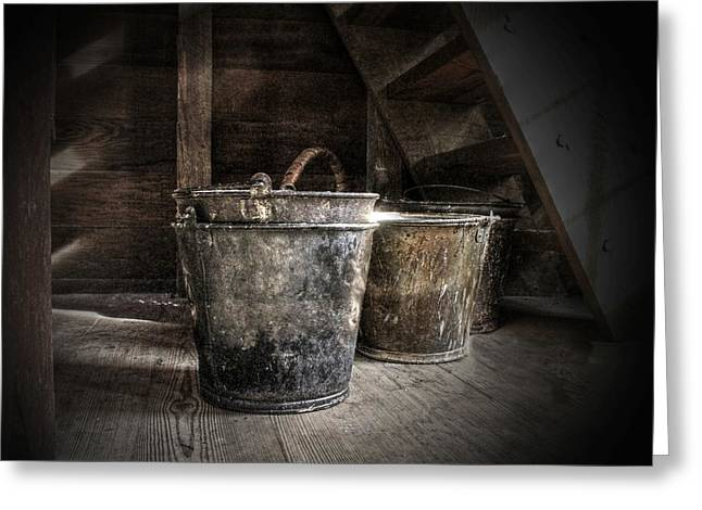Buckets Greeting Card by Christine Annas