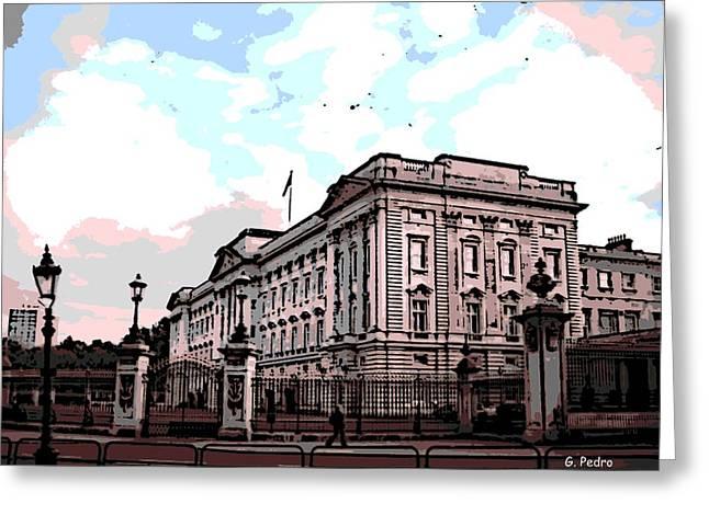 Buckingham Palace Greeting Card by George Pedro