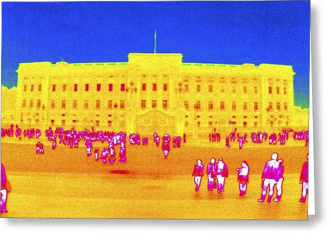 Buckingham Palace, Thermogram Greeting Card