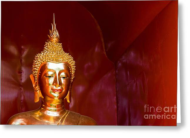 Buddha Bliss Greeting Card by Sonny Marcyan