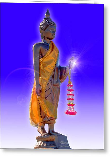 Buddha Greeting Card by David Foster
