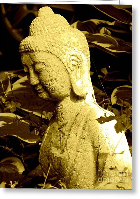 Greeting Card featuring the photograph Buddha  by France Laliberte