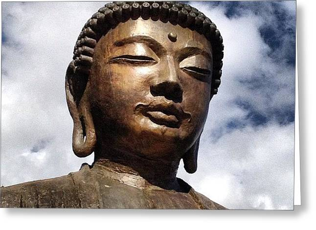 Buddha In The Sky Greeting Card