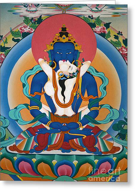 Buddha In Yabyum - Nepal Greeting Card by Craig Lovell