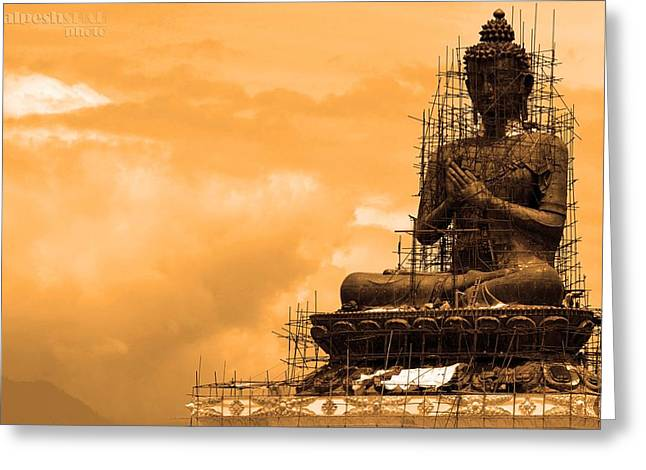 Buddha Greeting Card by Kalpesh Shah