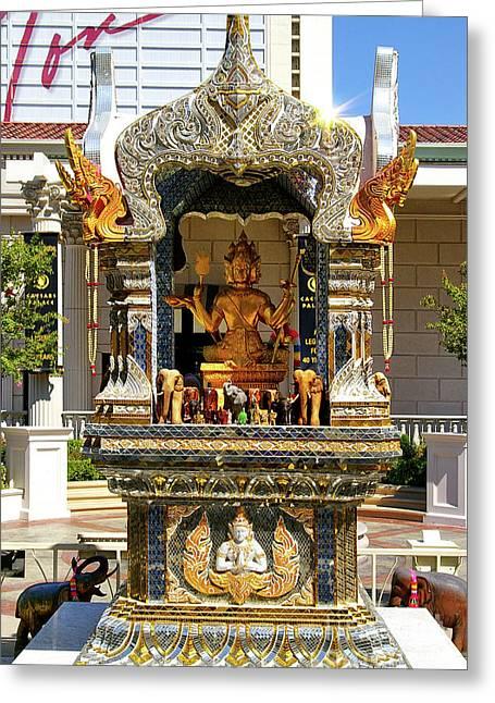 Buddha Shrine Greeting Card