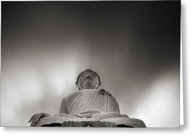 Buddha Statue Greeting Card by Teerapat Pattanasoponpong
