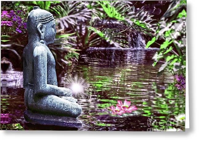 Buddha's Garden Greeting Card
