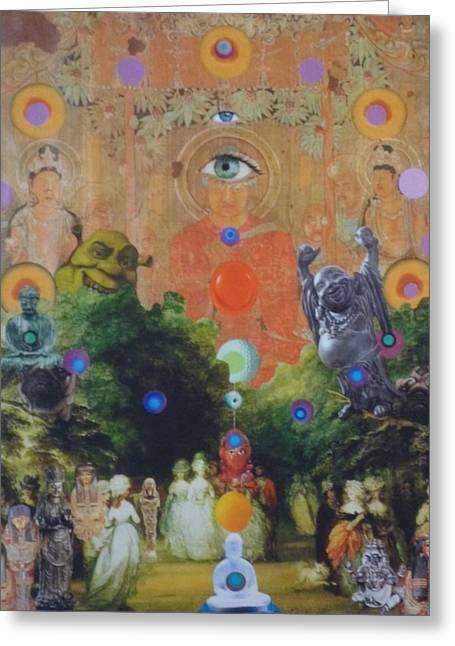 Buddha's Garden Party Greeting Card