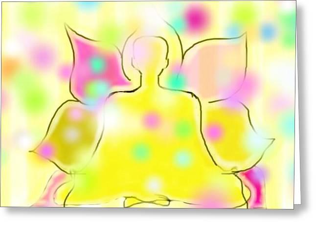 Buddhic Consciousness Greeting Card by Rosana Ortiz