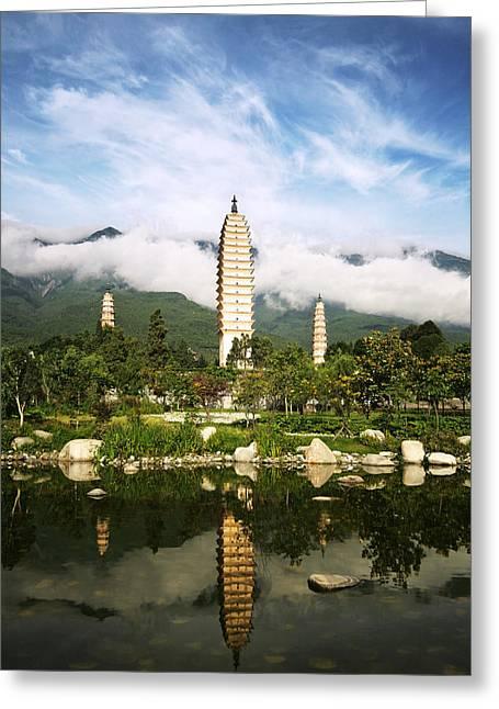 Buddhist China 5 Greeting Card by Barnaby Chambers